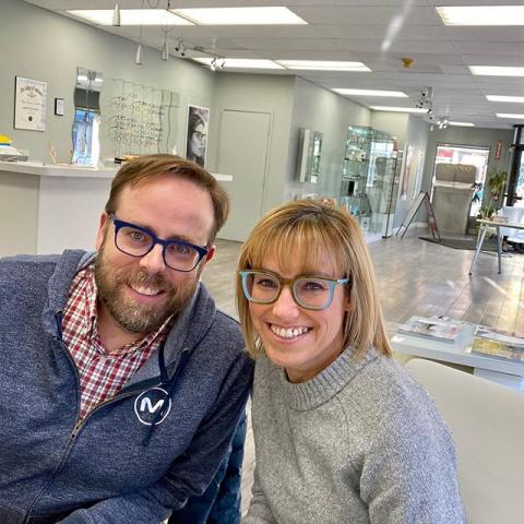 One of our very sweet couples Tanya & Bruce celebrating Valentine's Day in colour and style!  Those limited editions by l.a.Eyeworks are as charming, mesmerizing and fascinating as the special day itself❤️ Congratulations Tanya and Bruce! You look amazing as always?  Happy Valentine's Day❤️? #dtbelleville